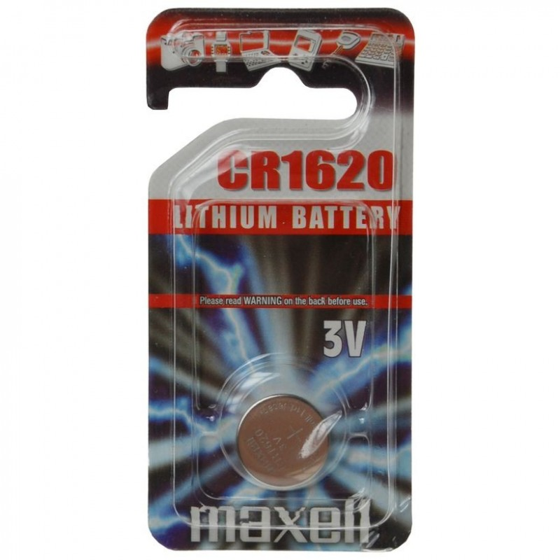PILE BOUTON 3 VOLTS CR1620 - MAXELL